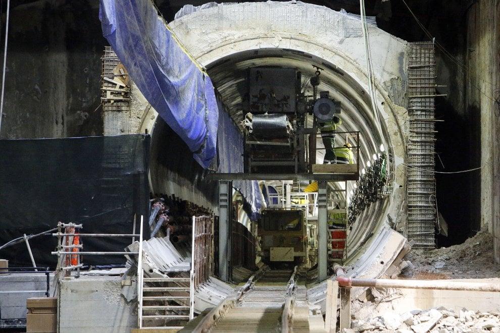 Roma, talpe al lavoro per la Metro C alla stazione Amba Aradam