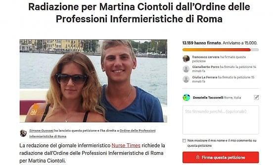 """Caso Vannini, """"Non soccorse fidanzato, Martina Ciontoli fuori da ordine infermieri"""".  Replica: """"Decisione solo dopo sentenza definitiva"""""""