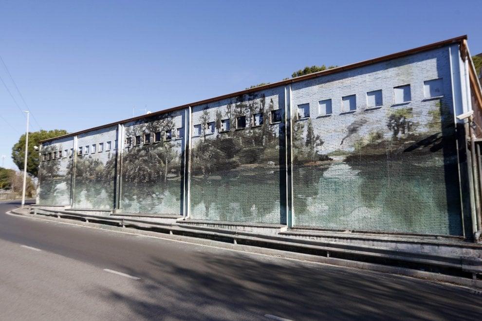Roma, Raggi inaugura Riflessi, il murale di Jerico al Mammut di Casal de' Pazzi