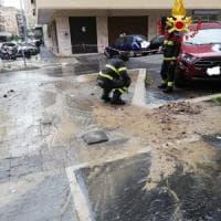 Roma, si rompe tubatura dell'acqua: strade allagate in zona Cipro