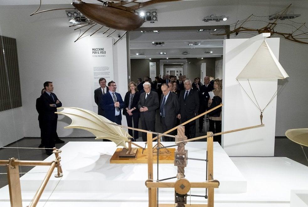 Mattarella alle Scuderie del Quirinale inaugura la mostra dedicata al genio di Leonardo