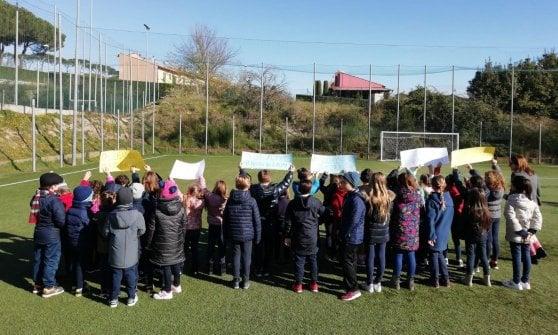 Formello. bambini in campo per difendere l'ambiente