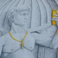 David e Venere: finito il nuovo murale di Blu al Quarticciolo di Roma