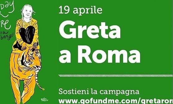 Roma, un palco a pedali con 128 bici per l'arrivo di Greta al Fridays for Future