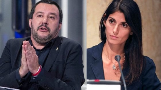 """Salvini, ancora pressing su Roma: """"Non serve scienziato per togliere la 'monnezza'"""". Raggi: """"Ho spalle larghe"""""""