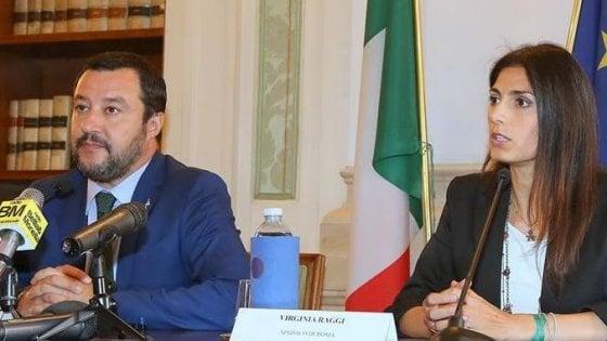 """Salvini """"commissaria"""" Raggi:  sulle """"zone rosse"""" potere ai prefetti"""