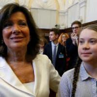 Per Greta a Roma, aula strapiena al Senato: