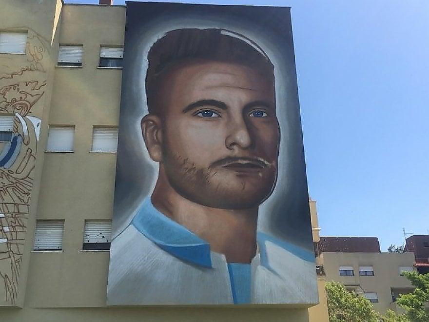 Ciro Immobile visto da Jorit: il nuovo murale a Roma