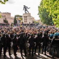 Ncc, riesplode la protesta: in 500 in piazza a Porta Pia contro il taglio