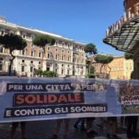 Roma, blitz dei movimenti per la casa al Viminale