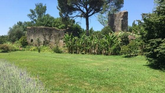 Giardini di Ninfa, scoperta l'antica porta di accesso alla città