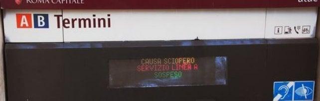 Sciopero dei trasporti: chiuse la metro A  la metro C e la Roma-Lido. Corse ridotte sulla B