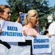 """Sit-in di protesta a La Storta """"Basta spazzatura.  Ridateci l'isola ecologica"""""""