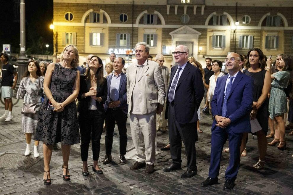 """Roma, si inaugura l'installazione di piazza del Popolo """"Ai nati oggi"""""""