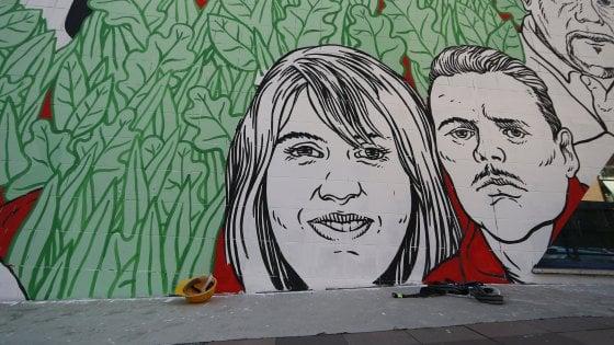 """Ostia, murales legalità: """"Noi intimiditi per levare i volti"""""""