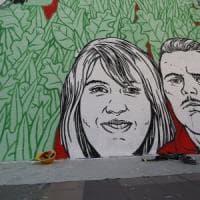 Ostia, murales legalità: