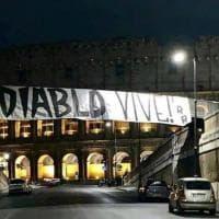 Omicidio Piscitelli a Roma, lo striscione al Colosseo:
