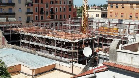 Roma,  area Bastianelli: lavori in corso. Appartamenti nell'ex fonderia