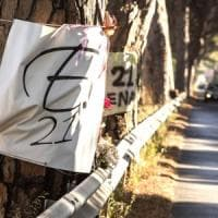 Ostia, troppe buche stradali: su tre chilometri della via Ostiense divieto