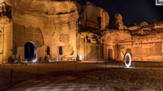 Terme di Caracalla, riprendono le suggestive visite in notturna