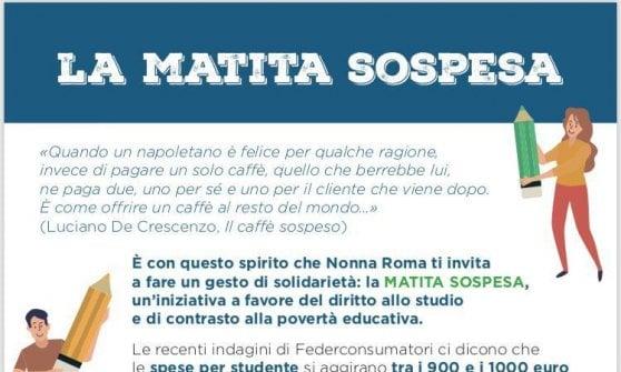 """""""Matita sospesa"""", a Roma il circuito solidale per il materiale di cancelleria"""