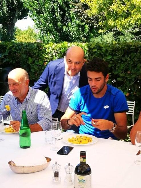 Tennis, brindisi per Berrettini al circolo Aniene