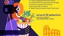 Cinema e gastronomia  l'Italia incontra la Francia