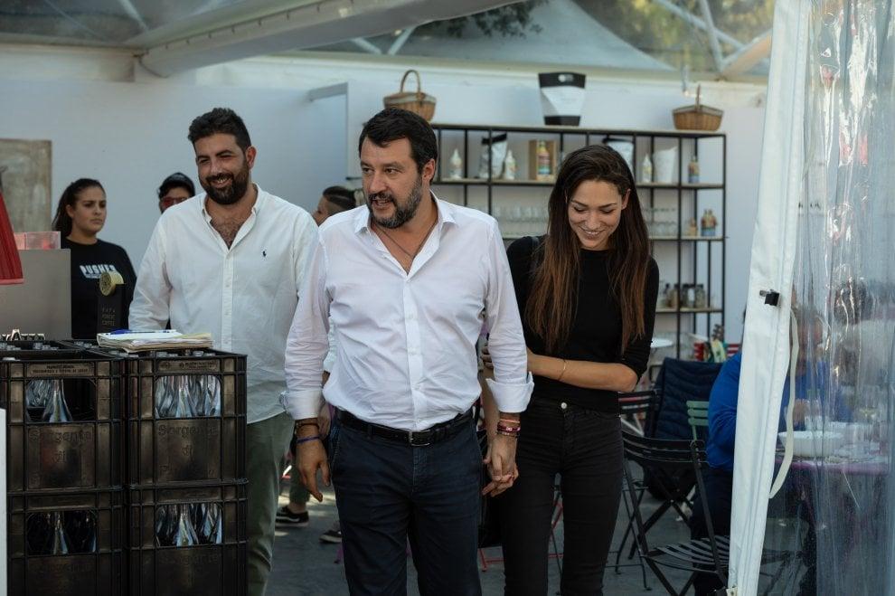 Matteo Salvini e Francesca Verdini alla Festa del Cinema di Roma