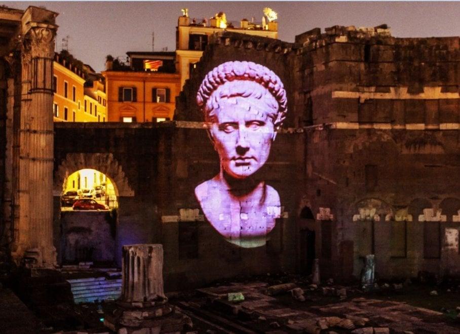 Foro di Cesare e di Augusto, fino a domenica le ultime proiezioni ideate da Piero Angela