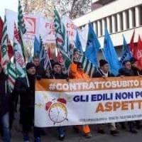 Roma,  tornano in piazza gli edili: