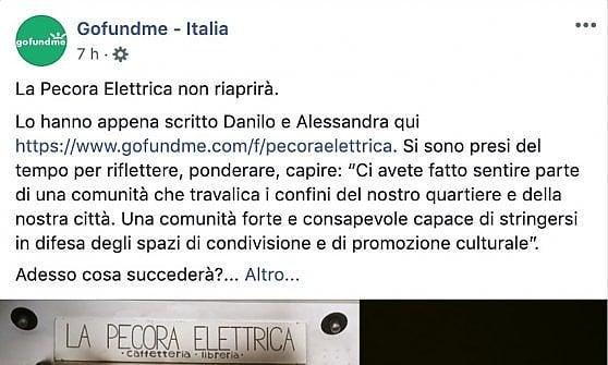 """Roma, la Pecora elettrica non riaprirà. """"Ma non è una sconfitta"""""""