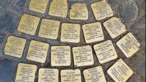 Roma, 34 nuove pietre d'inciampo, dal Ghetto a Centocelle