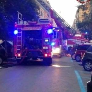Roma, fiamme in un appartamento in via dei Gracchi
