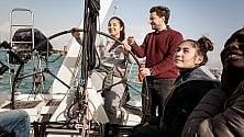 Dall'oceano a Ostia, Beccaria con i ragazzi aspiranti skipper   video