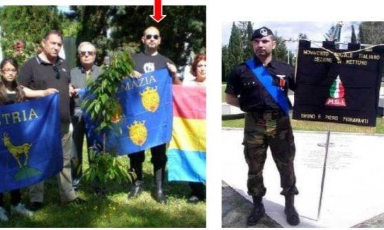 Ciampino, spuntano le foto in camicia nera e saluto fascista dello scrittore ingaggiato per ricordare le foibe