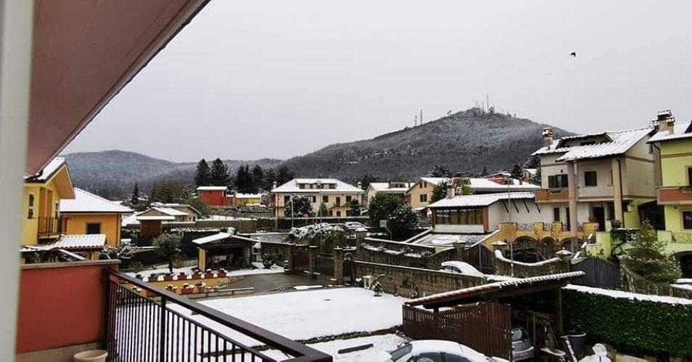 Neve ai Castelli Romani, imbiancate Rocca di Papa e Rocca Priora
