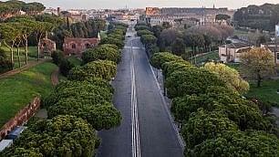 Da Termini al Colosseo la città vuota dall'alto