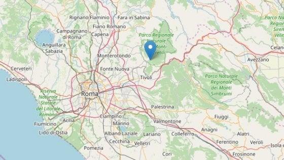 Terremoti, scossa magnitudo tra 3 a Marcellina, in provincia