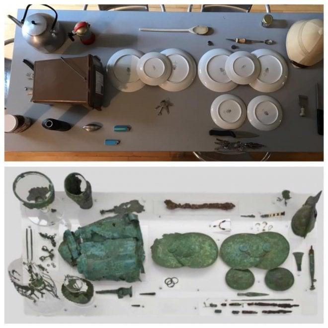 Forchette, mestoli e calzini spaiati: l'arte etrusca ricreata in casa è esilarante