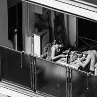 Roma vista dai balconi, gli scatti in bianco e nero