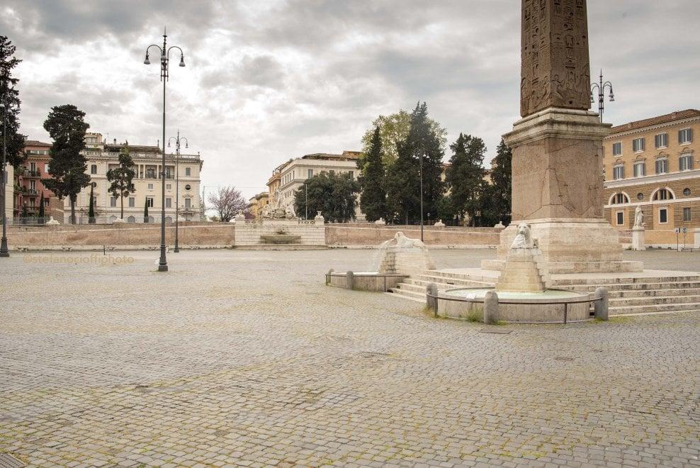 Da Trastevere al Quirinale, la Roma deserta di Pasqua