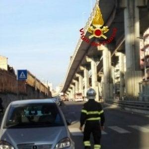 Roma, crolla copriferro sulla Prenestina: chiusa poi riaperta la Tangenziale