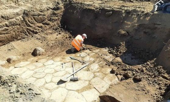 Roma, spuntano resti del I-II secolo a.C. dagli scavi sulla Tiburtina