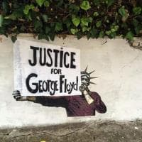 """""""Justice for George Floyd"""": il murale a Roma"""
