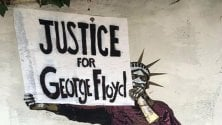 """Justice for George Floyd"": il murale a Roma"