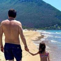 Salvini a Sabaudia, relax in spiaggia con famiglia