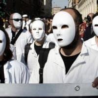 Roma. in piazza i precari dell'Agenzia nazionale per i lavoro: