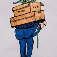Berlusconi lascia Palazzo Grazioli, l'ultima opera della street artist Laika