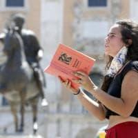 'Minerva in lockdown', la protesta degli studenti della Sapienza al Campidoglio,