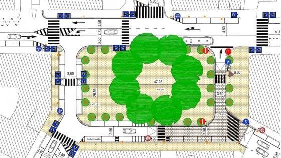 Roma, in piazza Scotti nuova viabilità e aree verdi: ecco il progetto che divide il quartiere